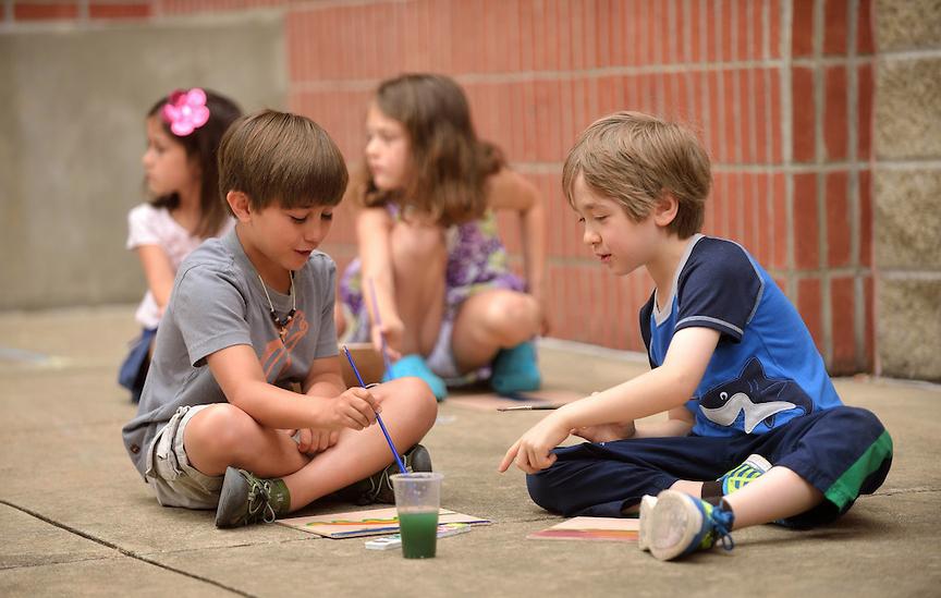 Children at Art Zone
